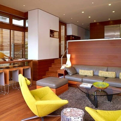 Small and modern living room
