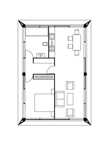 Small house a bedroom plan