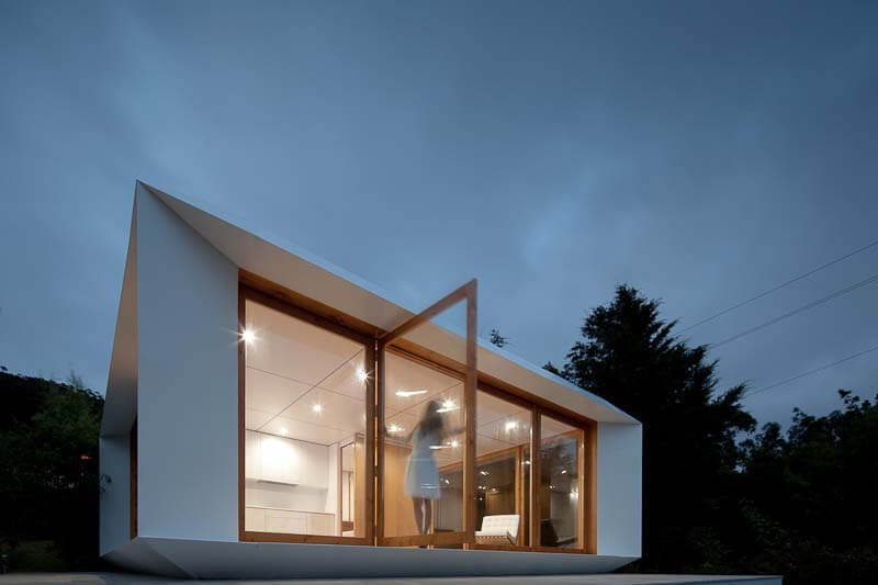Small one-story prefabricated house