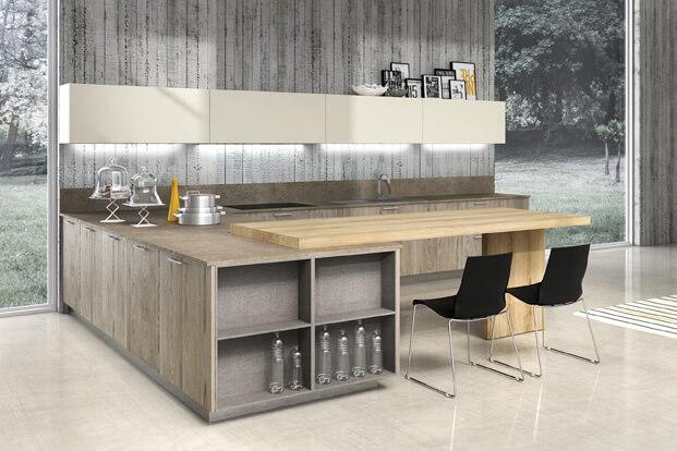 Small wooden kitchen design