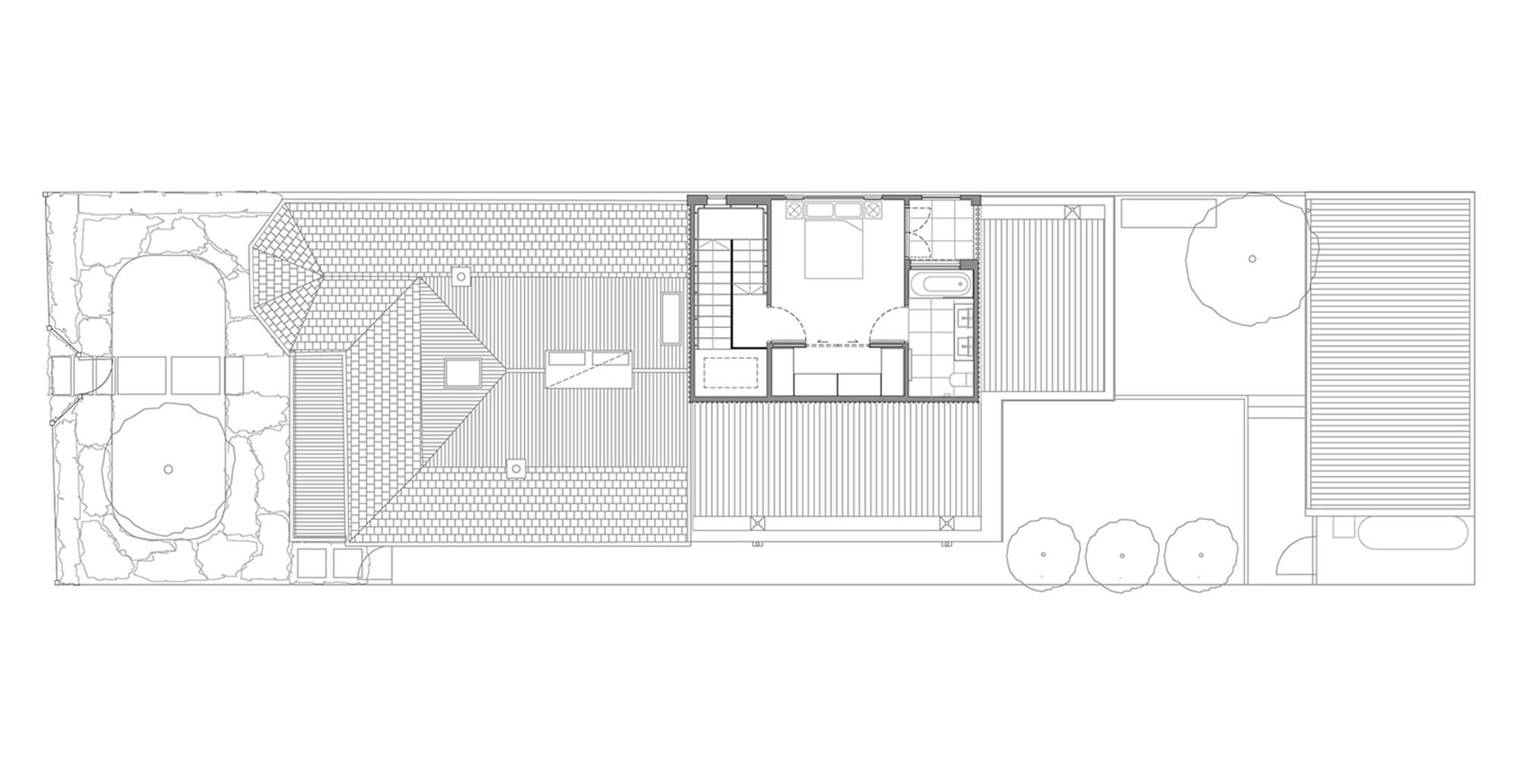 Upper floor bedroom floor plan