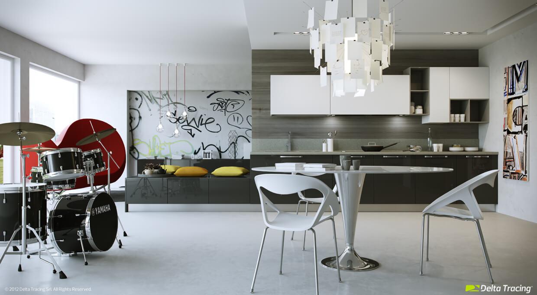 Youthful and fresh kitchen design