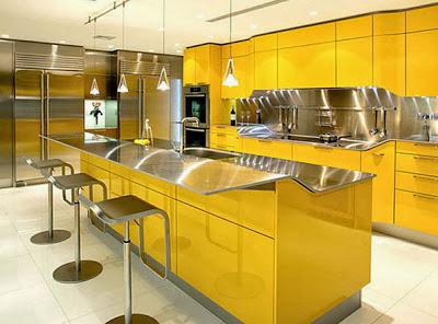 beautiful bright kitchen with bar design