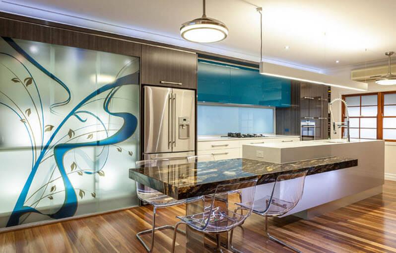 modern kitchen with island decoration
