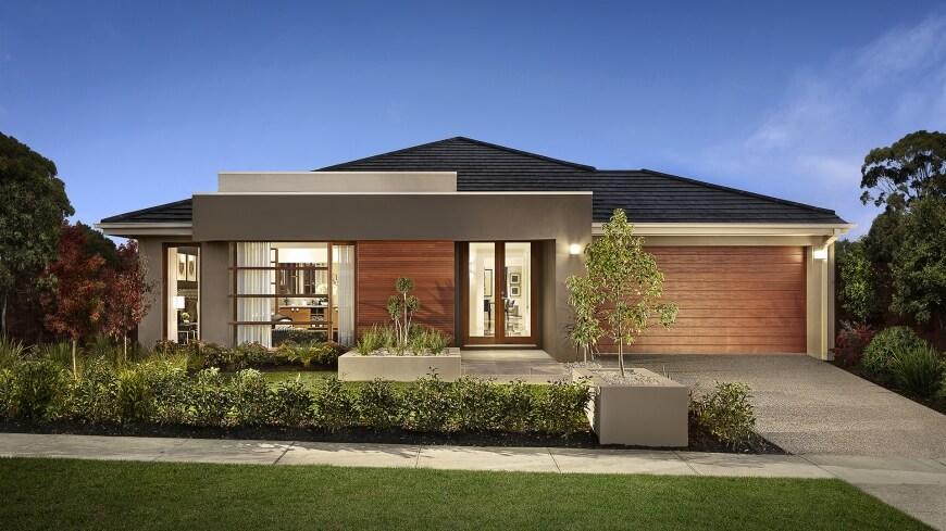 single-story modern house design