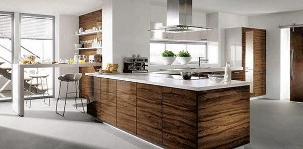 wooden kitchen bar and white board design
