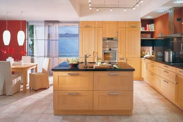 wooden kitchen island design