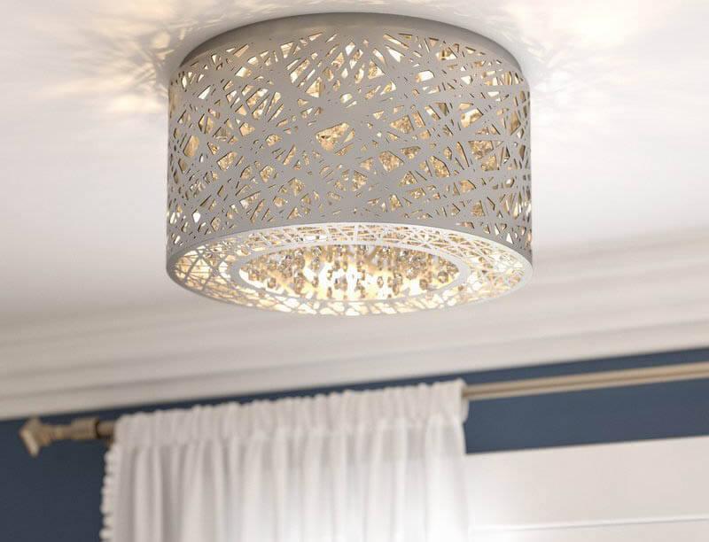 dining room drum style flush light