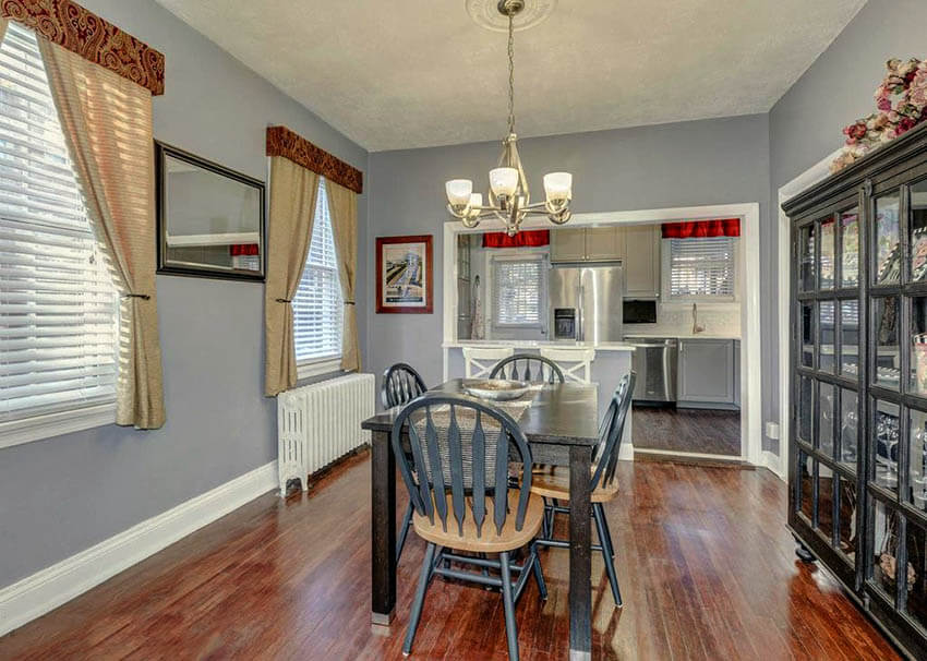 dining room with stardew gray paint