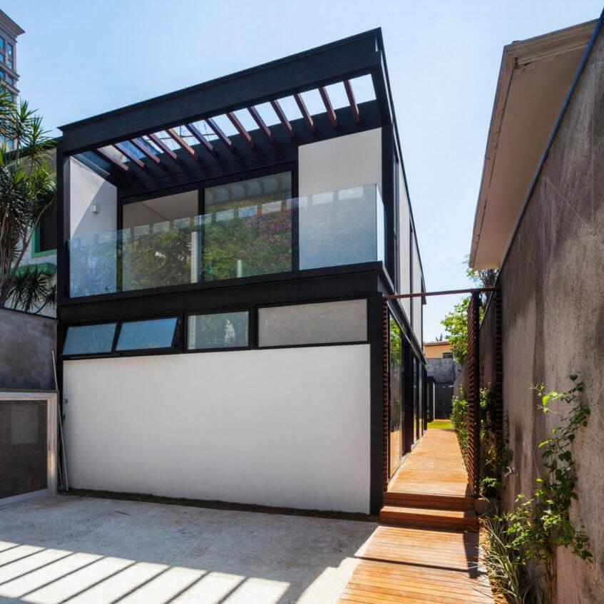 Narrow house facade