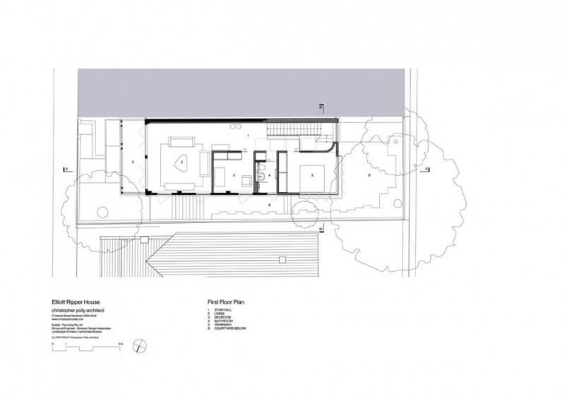 Second floor of the house - floor plan