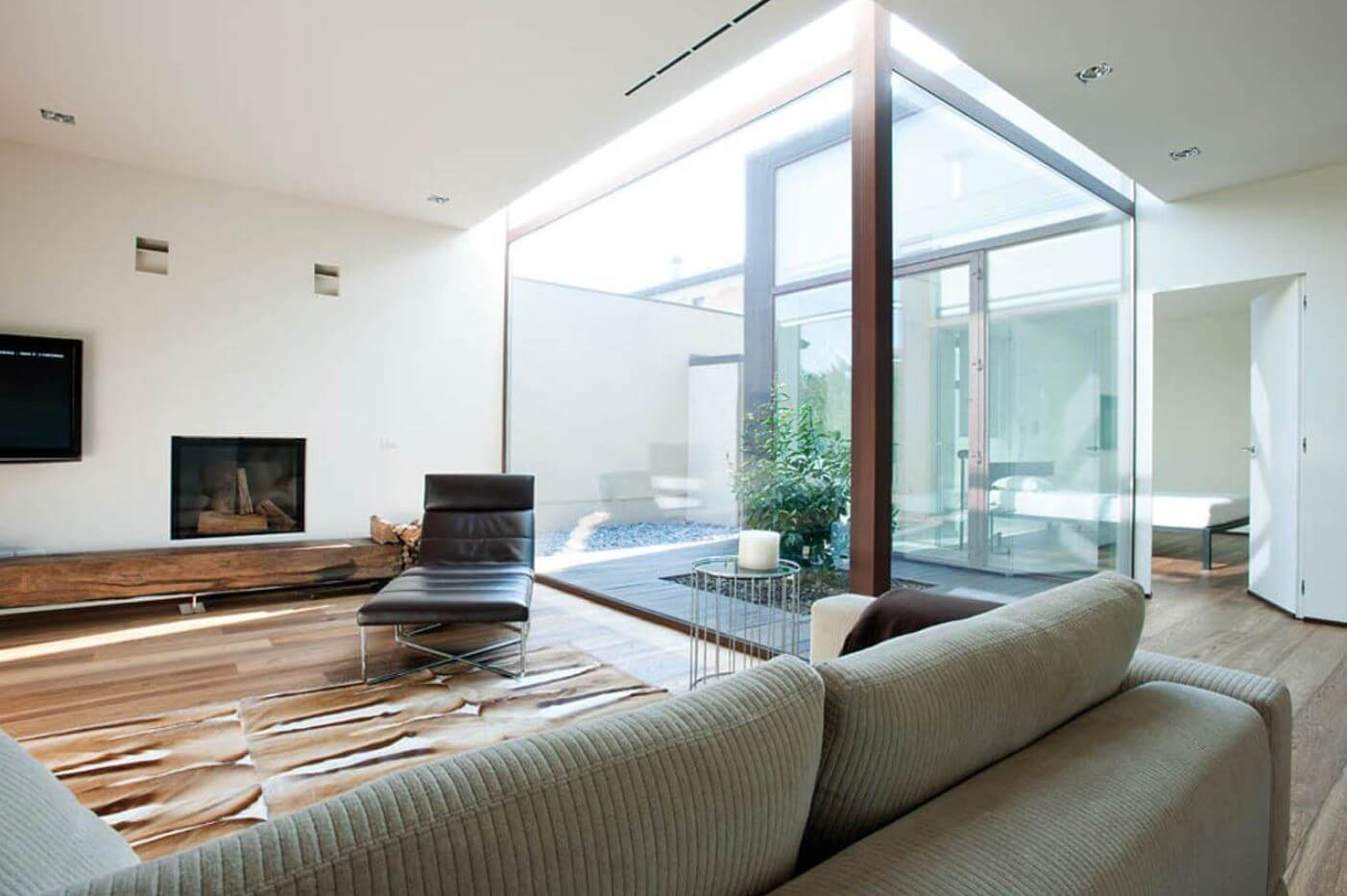 Small house with skylight