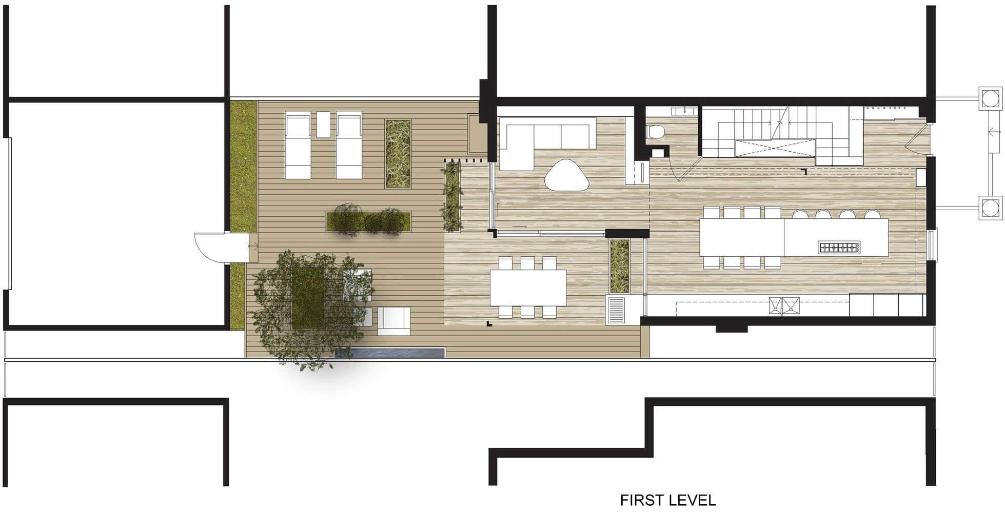 Small house with two levels