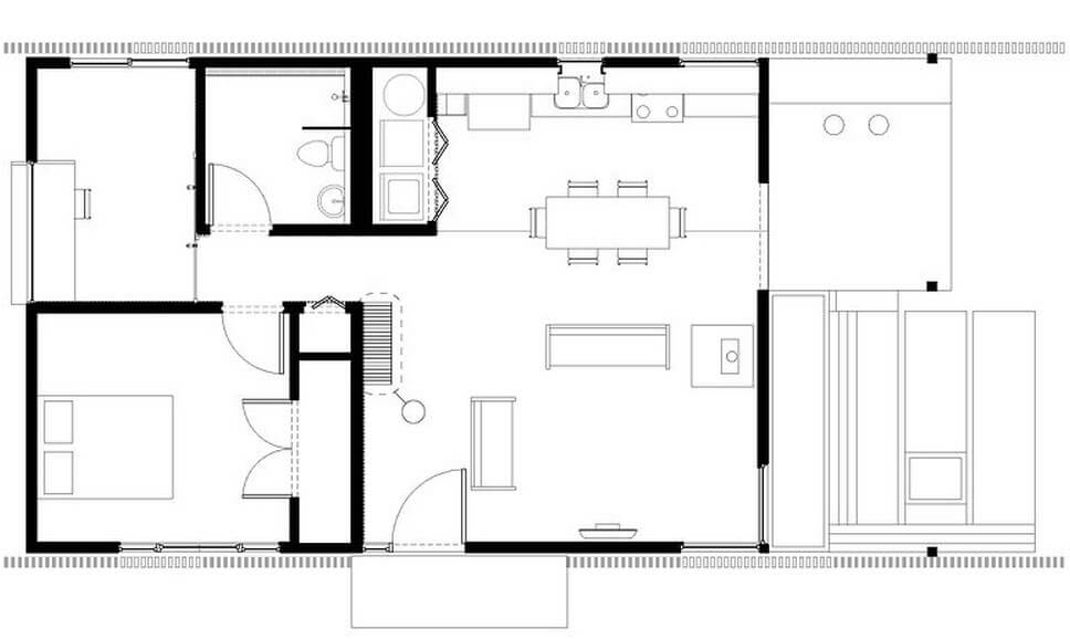 Two bedroom small house plan