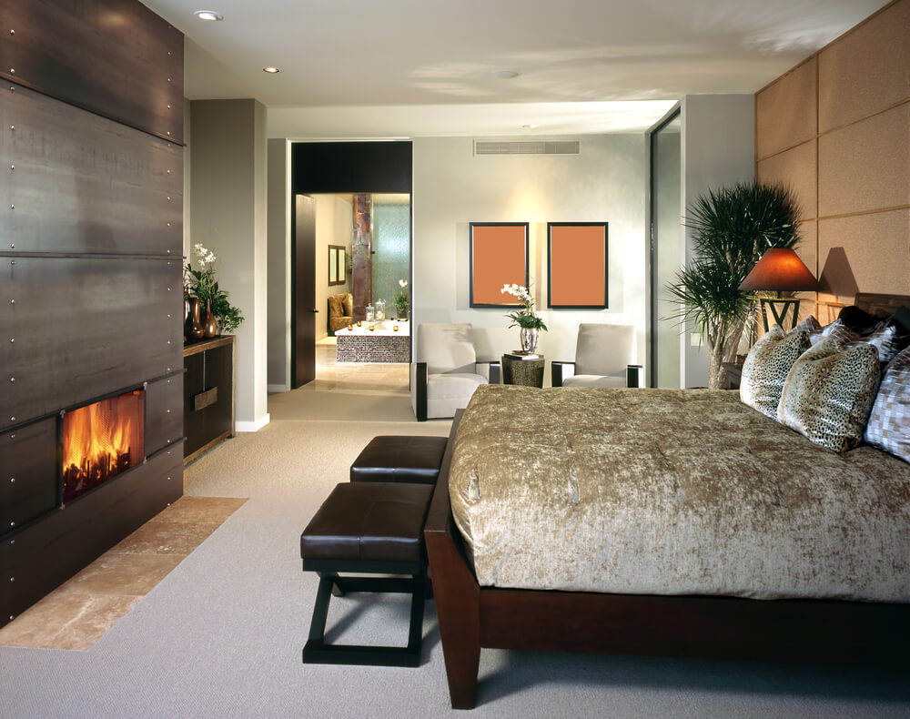 Modern Master Bedroom Designs For Couples - Master bedroom sets luxury modern and italian collection sheets velvet with a metallic fireplace right in