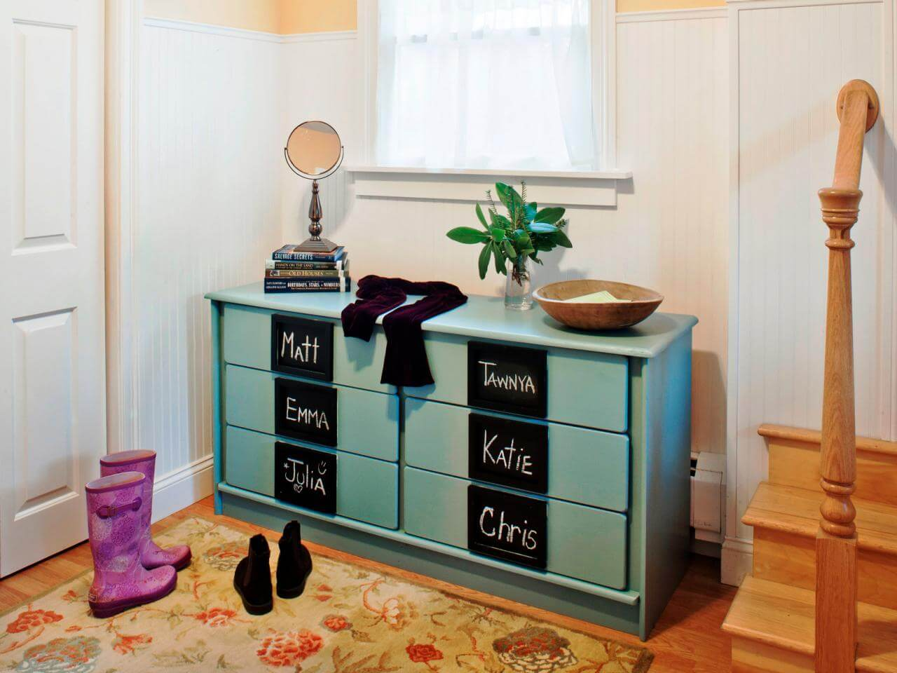 Mudroom Bench And Wall Shelf