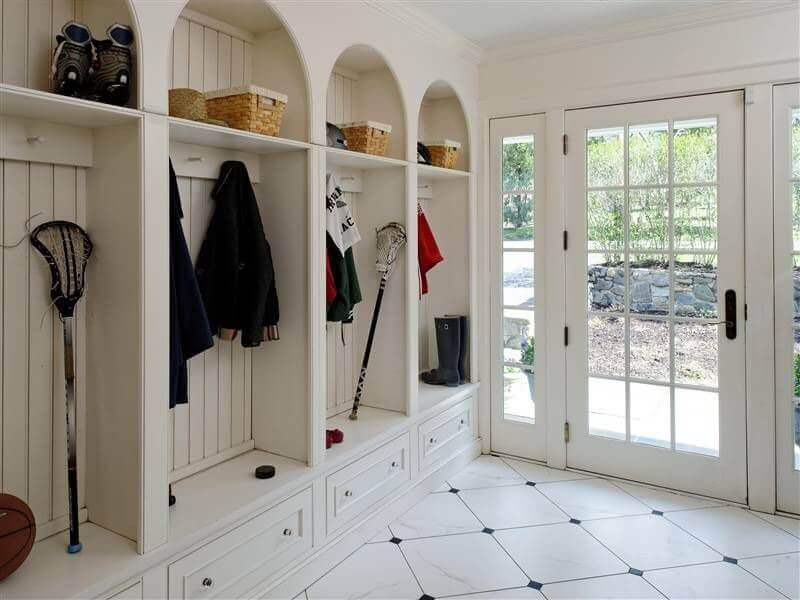 Mudroom Storage Systems : Superb mudroom entryway design ideas with benches