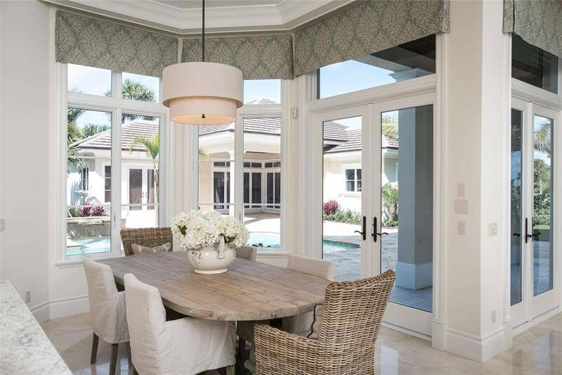 Dining Room Design with Wicker Chairs