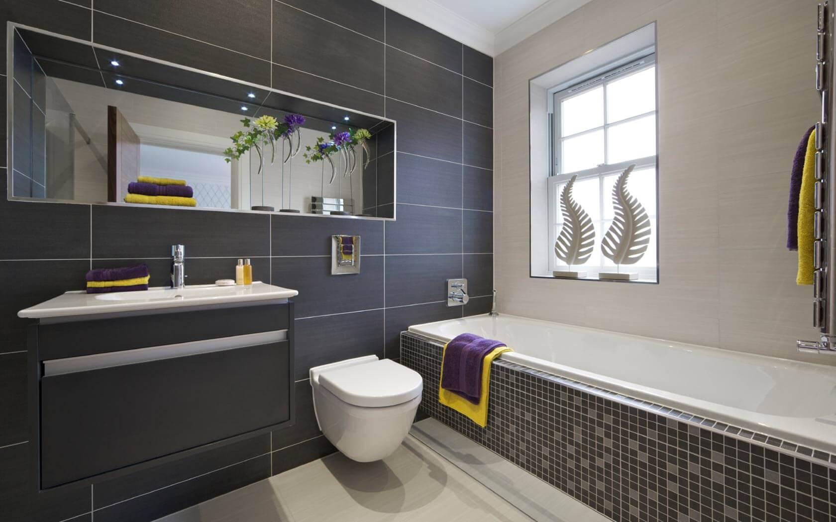 Bathroom Ideas Dark Tile