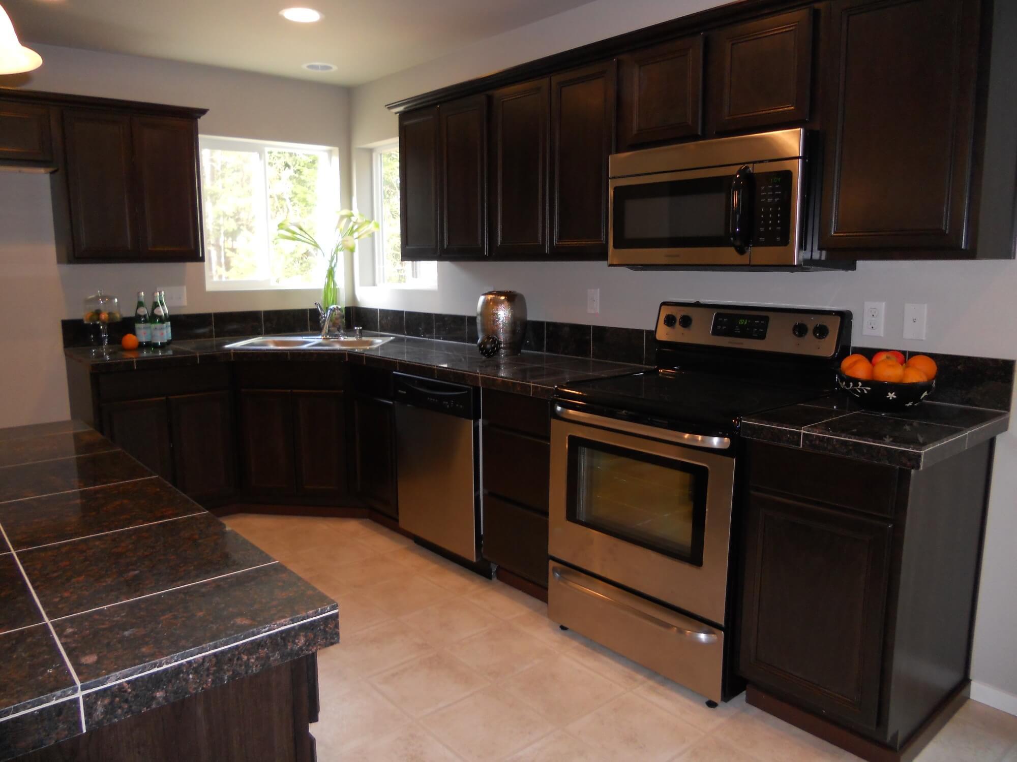 Kitchen Dark Cabinet Dark Granite