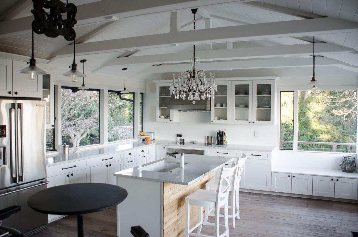 Kitchens Vaulted Ceilings
