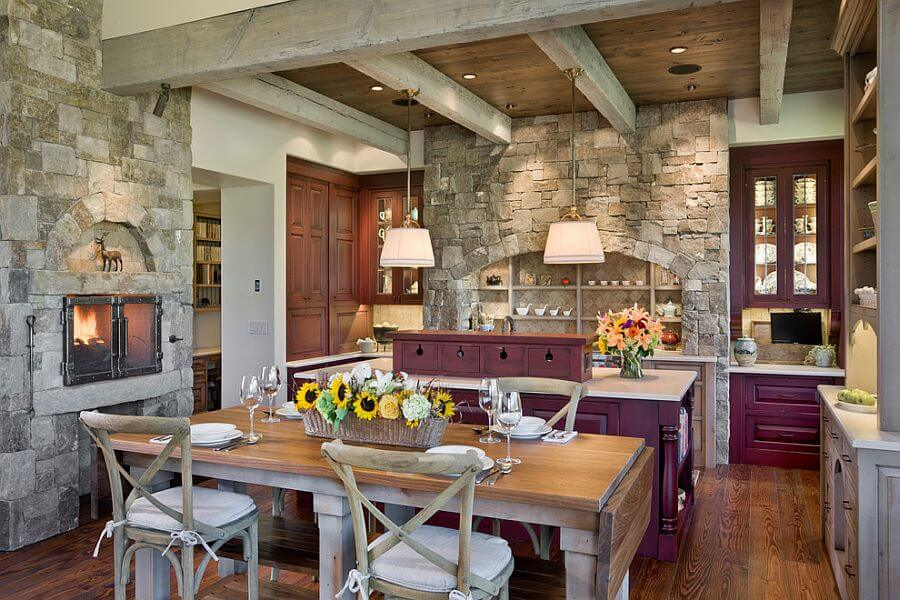 Kitchens with Fireplace