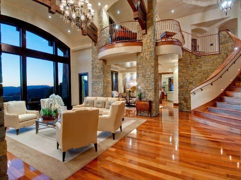 Living Rooms with Hardwood Floors