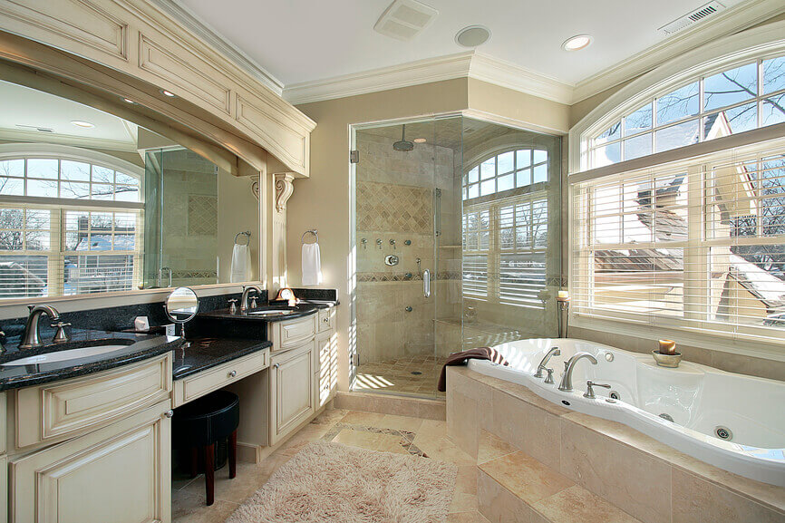 Master Bathrooms with Double Sink Vanities