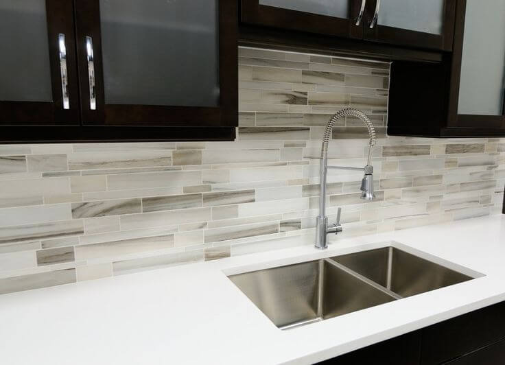 tile kitchen backsplash ideas a slender rectangular stone tiles