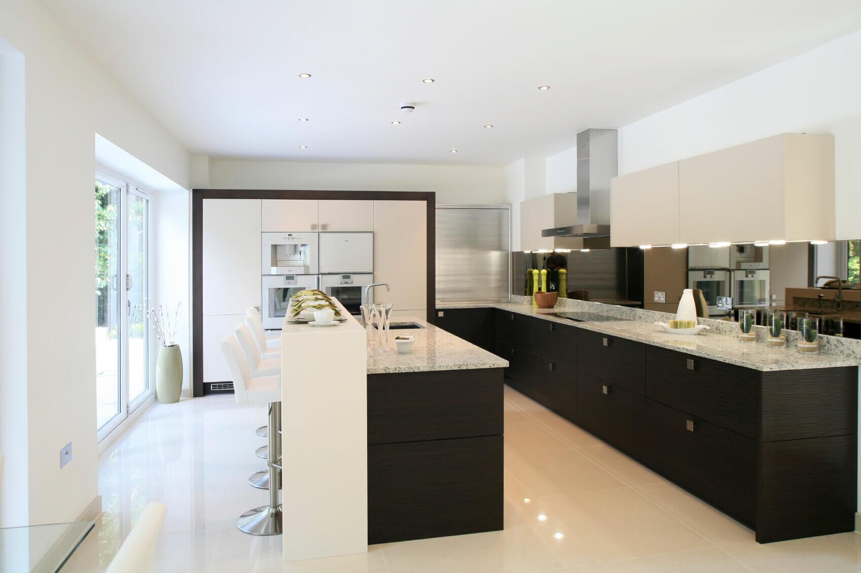 Contemporary Black and White Kitchen Design