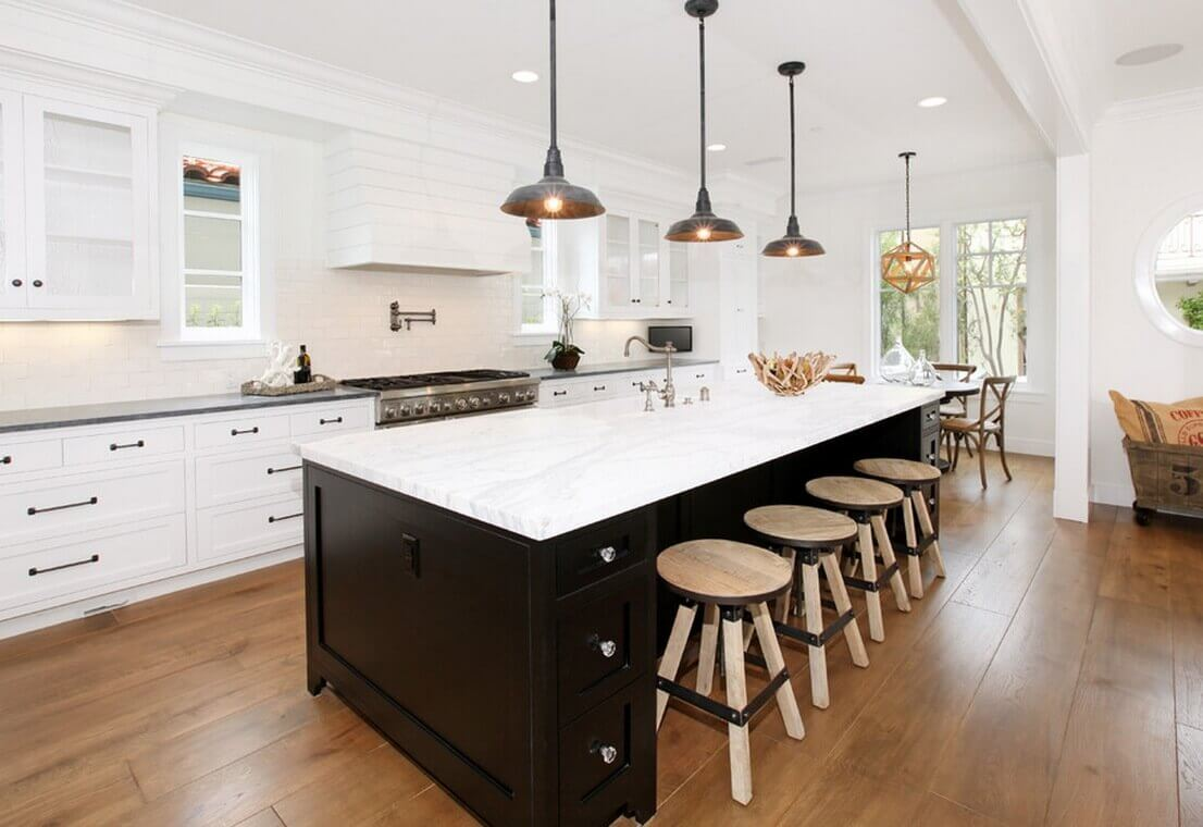 Kitchen islands are not complete without a matching lightning fixture. As they provide effective lightning task, these contemporary kitchen island lighting fixtures enhance the ambiance and design of the kitchen space