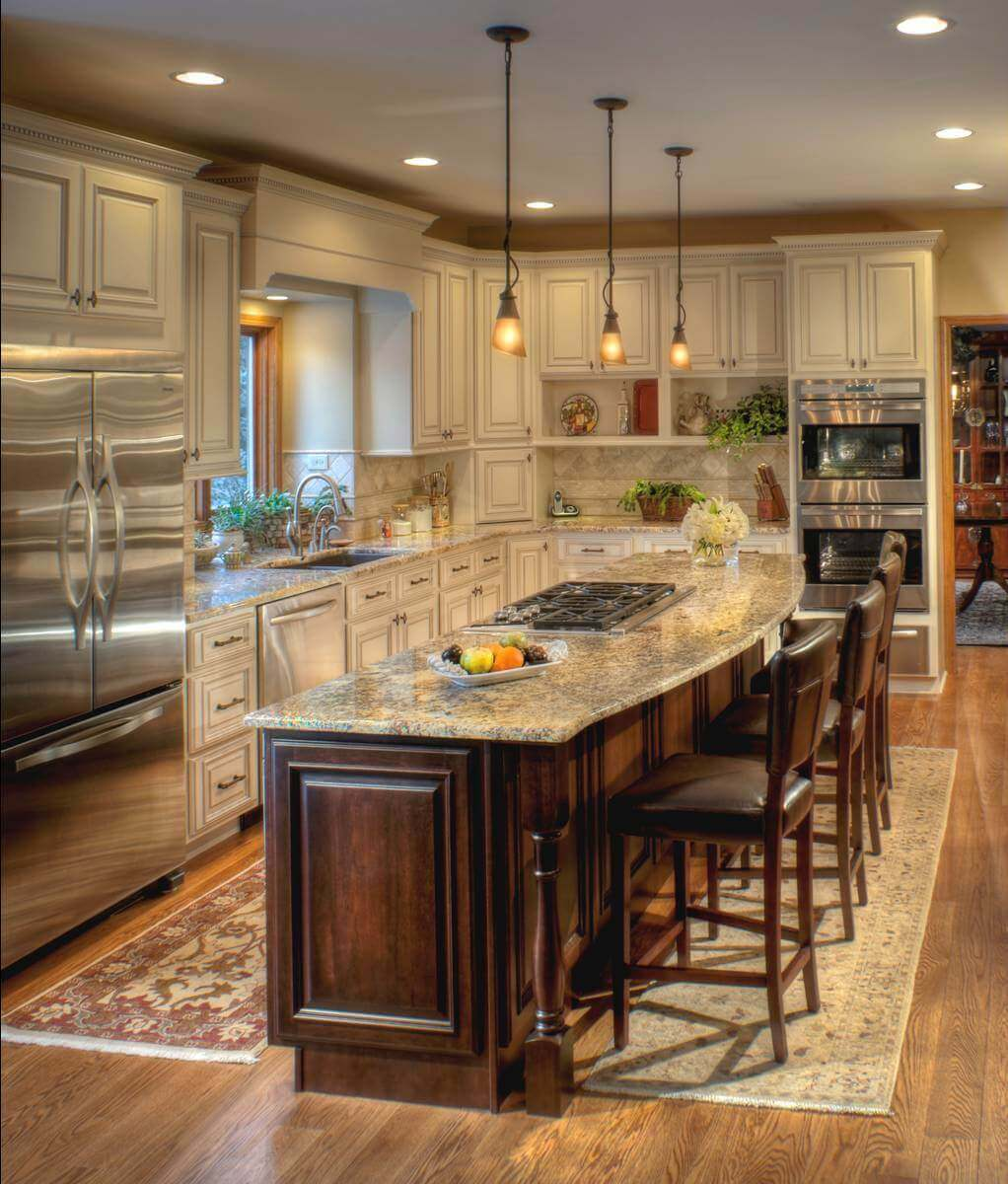 Ellegant Portable Kitchen Cabinet: 68+Deluxe Custom Kitchen Island Ideas (Jaw Dropping Designs