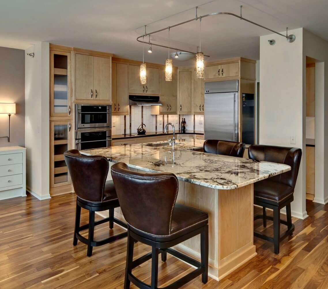 Kitchen Island Chairs With Backs: 68+Deluxe Custom Kitchen Island Ideas (Jaw Dropping Designs