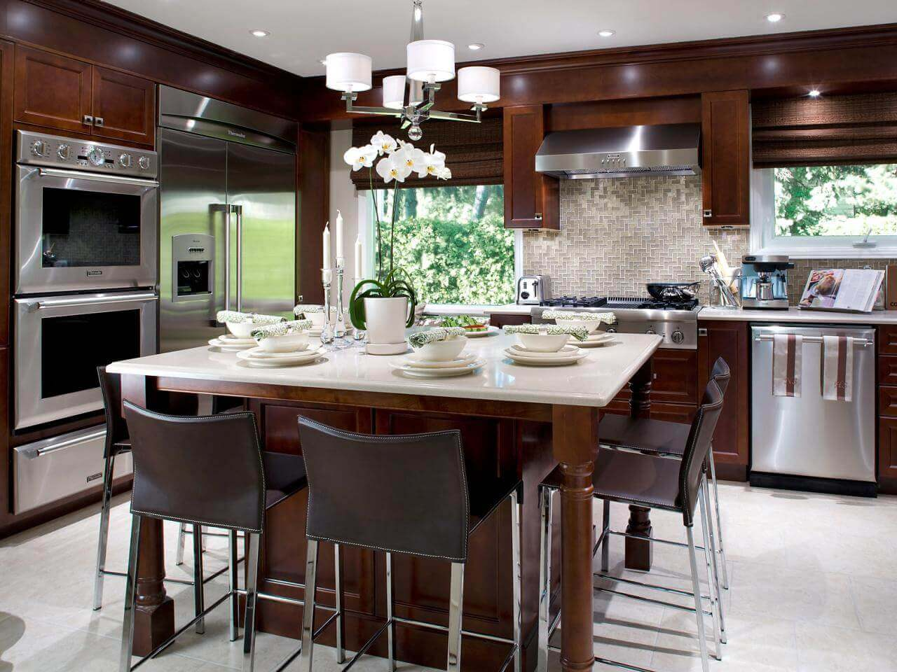 68 deluxe custom kitchen island ideas jaw dropping designs - Kitchen island with seating for 6 ...
