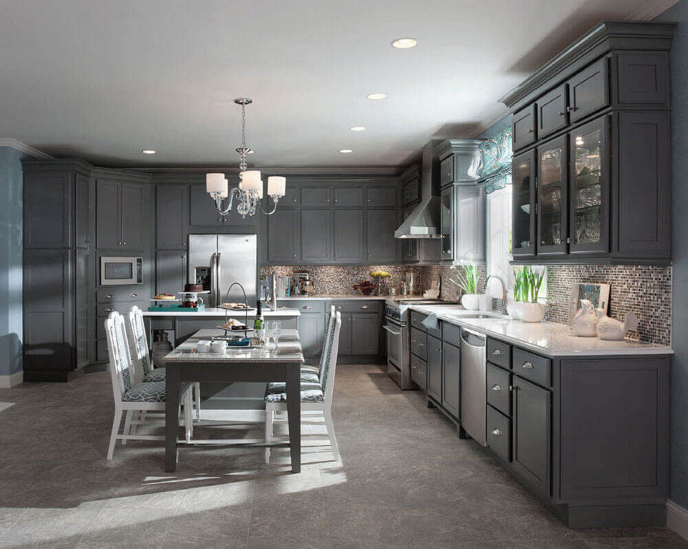 Having a luxury kitchen table close by makes cooking more convenient and even more entertaining. The stylish seating for four allows for family and guests alike to gather in the kitchen while the cook prepare the meal