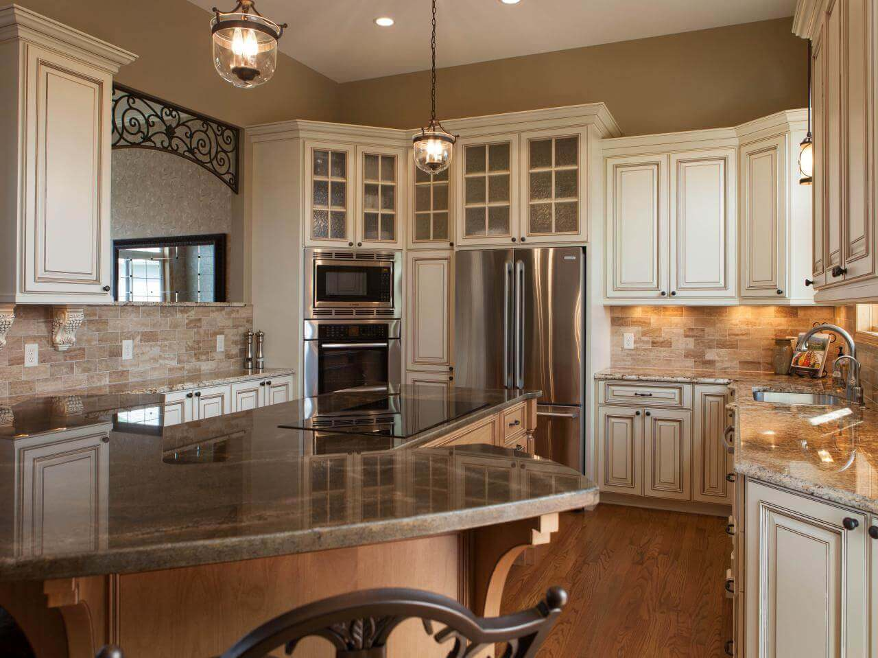 78 great looking modern kitchen gallery sinks islands for Modern kitchen in traditional house