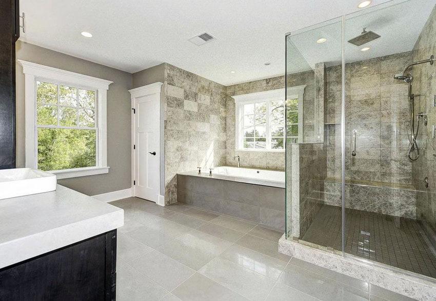 Travertine Bathroom Design Ideas ~ Travertine shower ideas bathroom designs