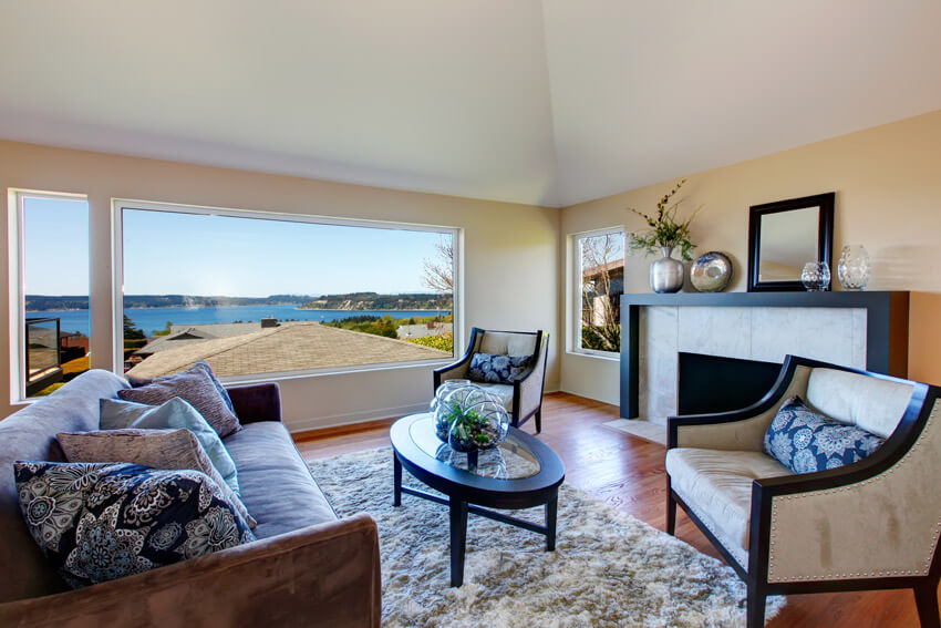 Bay View From Living Room With Picture Window