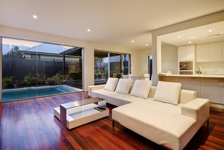 Beautiful Wood Flooring In Living Room