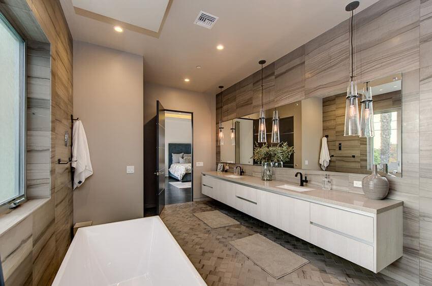21+ Bathroom Pendant Lighting Design Ideas -