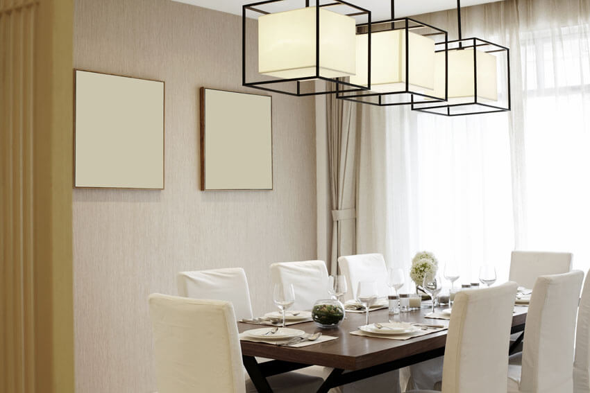 formal dining room with modern design