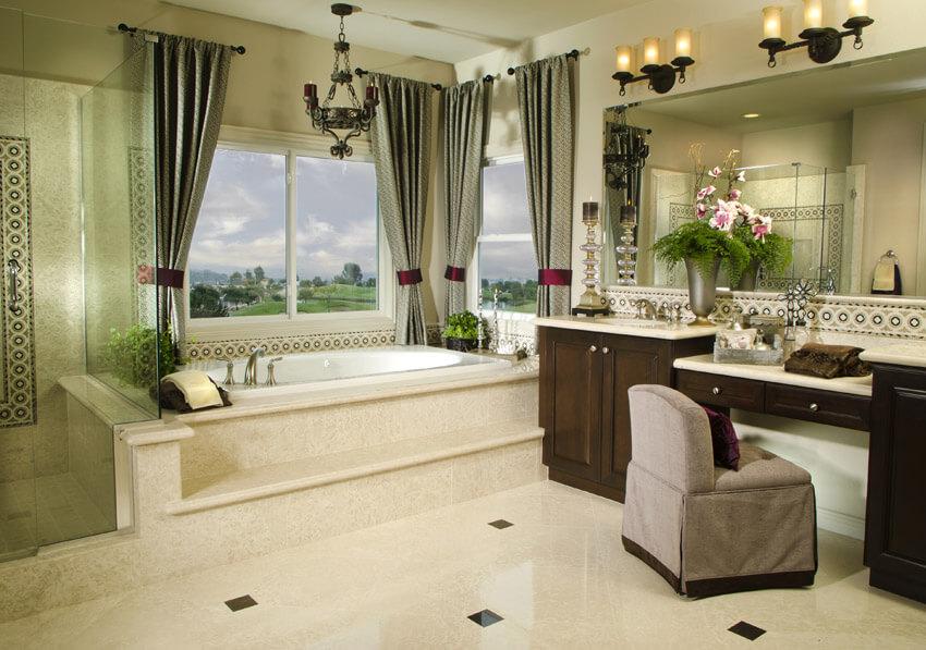 large designer custom bathroom