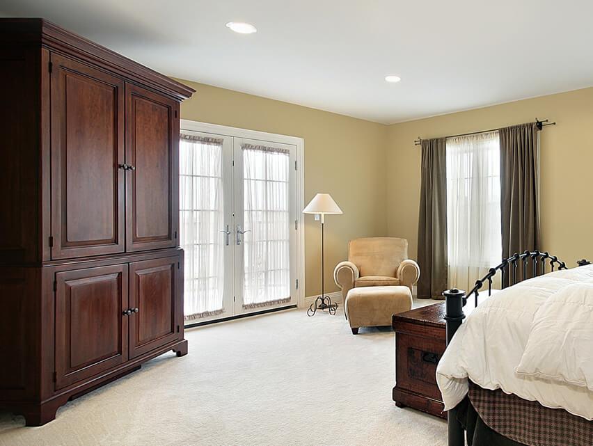 Large Wood Wardrobe For Bedroom