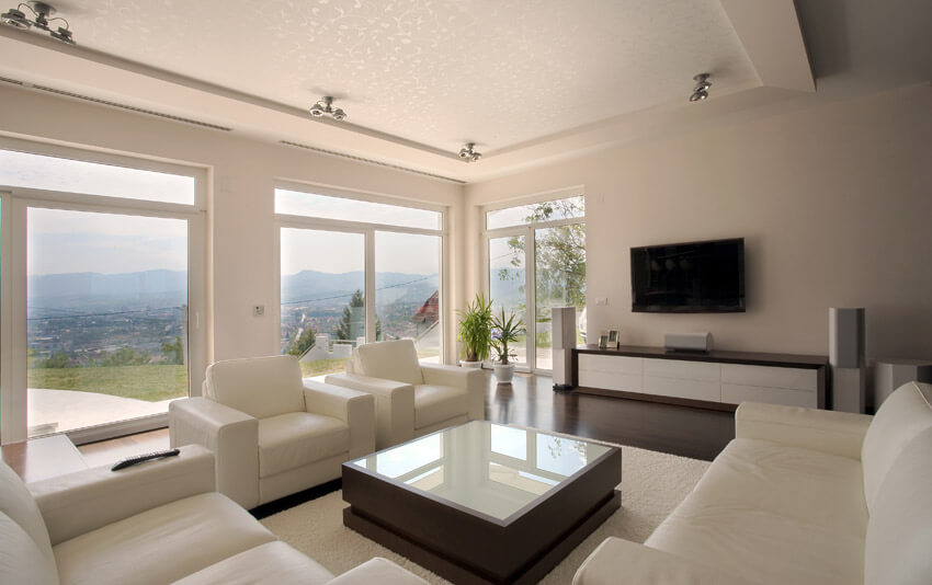 Living Room With Beautiful Window Views