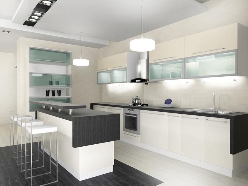 25 small kitchen design ideas photo gallery home for Small white modern kitchen