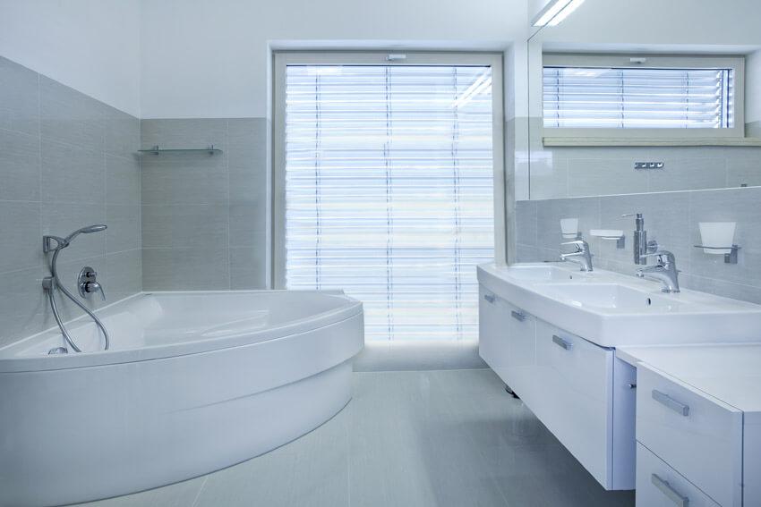 neutral color bathroom design