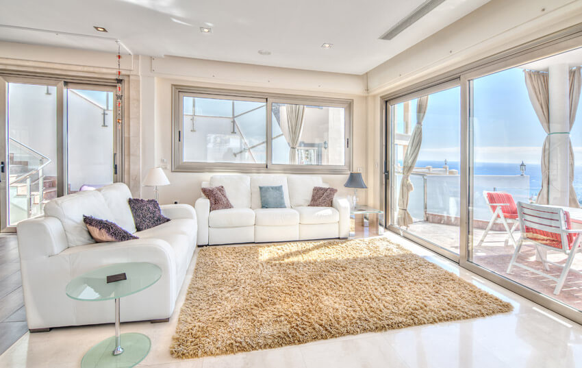 Oceanfront Living Room Space With Great Views