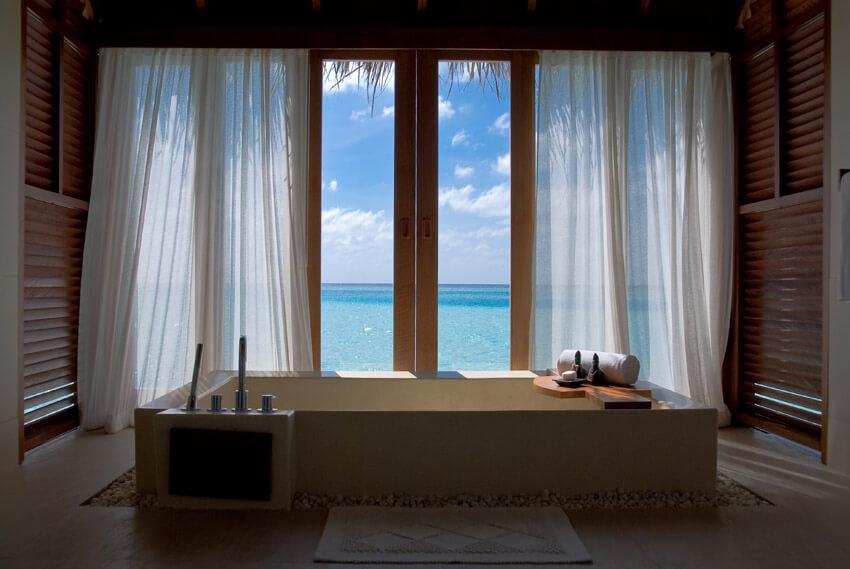 oceanview bathroom with tub