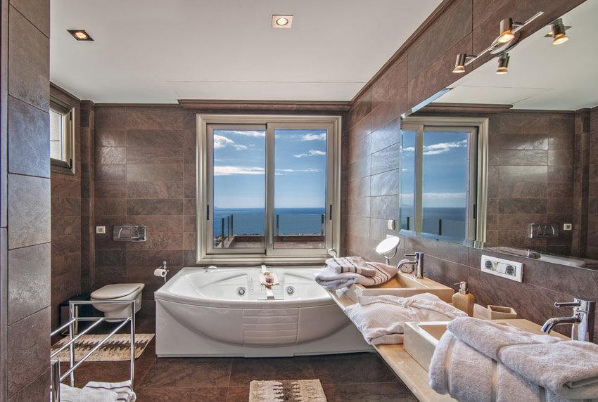 oceanview bathtub in home