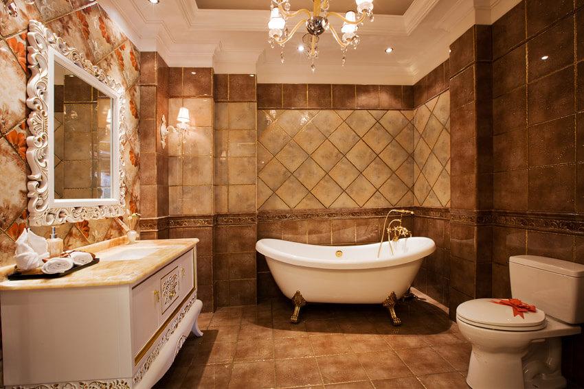 old fashioned design in bathroom